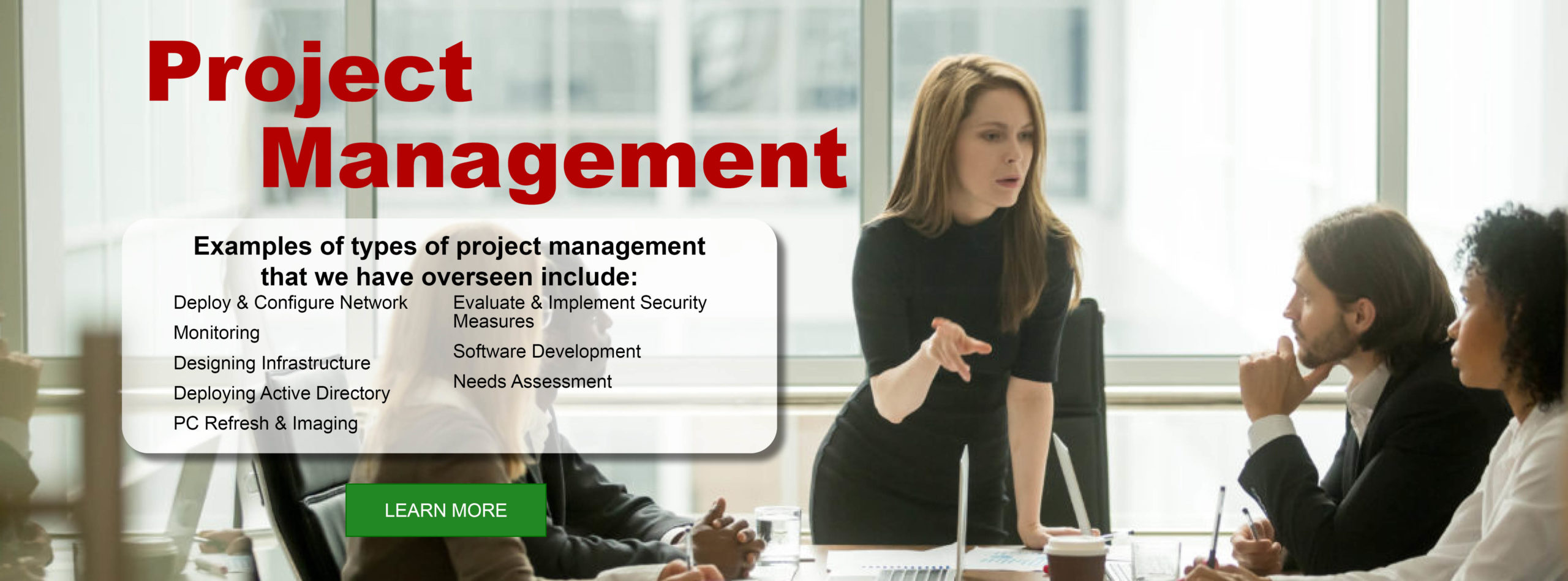 managed services project management banner #1