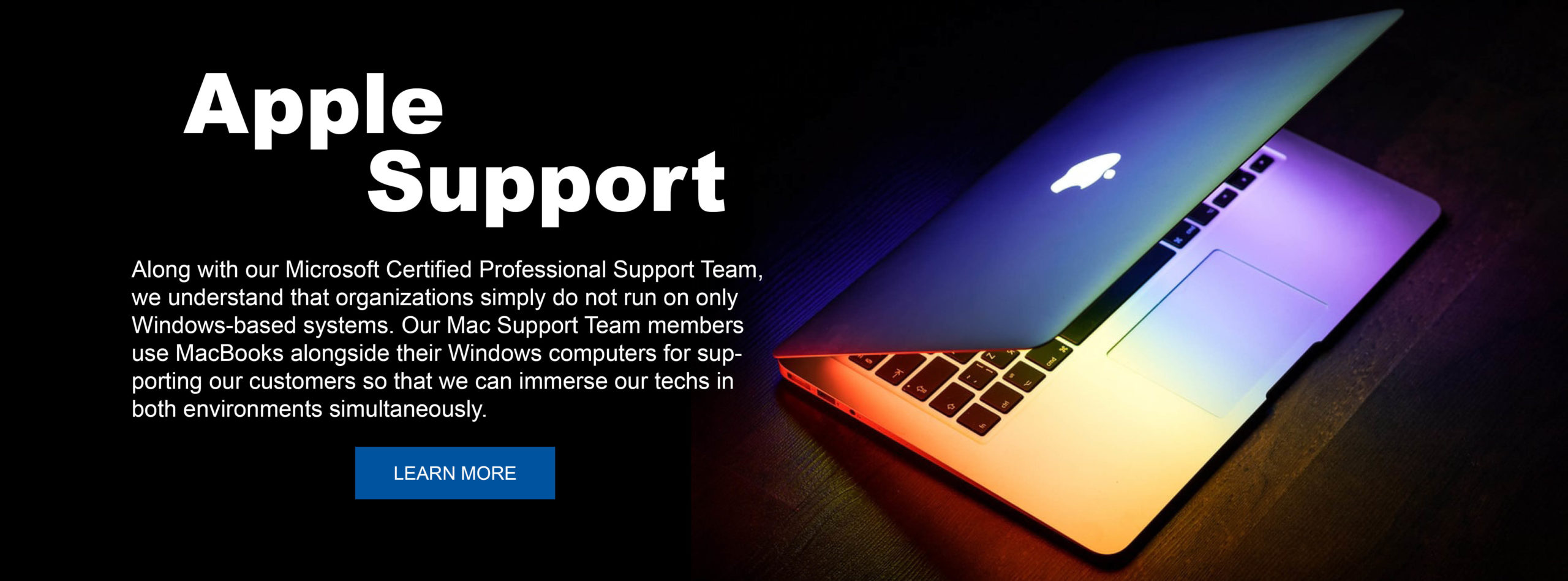 managed services apple support banner #5